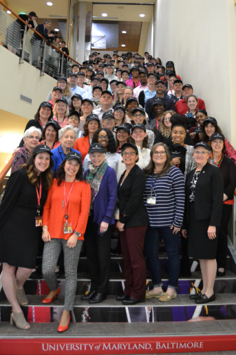 UMSON Faculty and Staff on Stairs