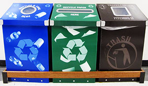 Triple Recycling Stations