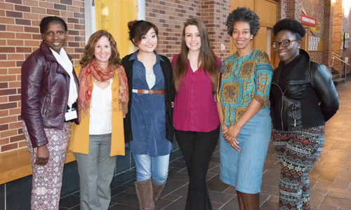 Group Photo: From left, Martine Kirwin, Trish Milburn, Allison Pugay, Meagan Hayes, Toya Sherrill, and Oriyomi Dawodu.