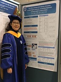 Scholar Eun Jee Lee, PhD, worked under the mentorship of UMSON faculty and Office of Global Health Director Dr. Yolanda Ogbolu to prepare her research on adolescent smart phone addiction in Korea for publication.