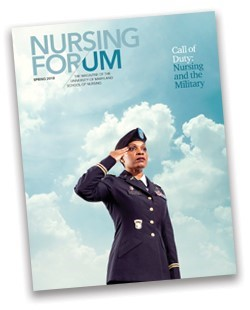 Cover of the spring 2018 issue of Nursing For/um