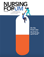 cover of the spring 2020 issue of nursing forum magazine