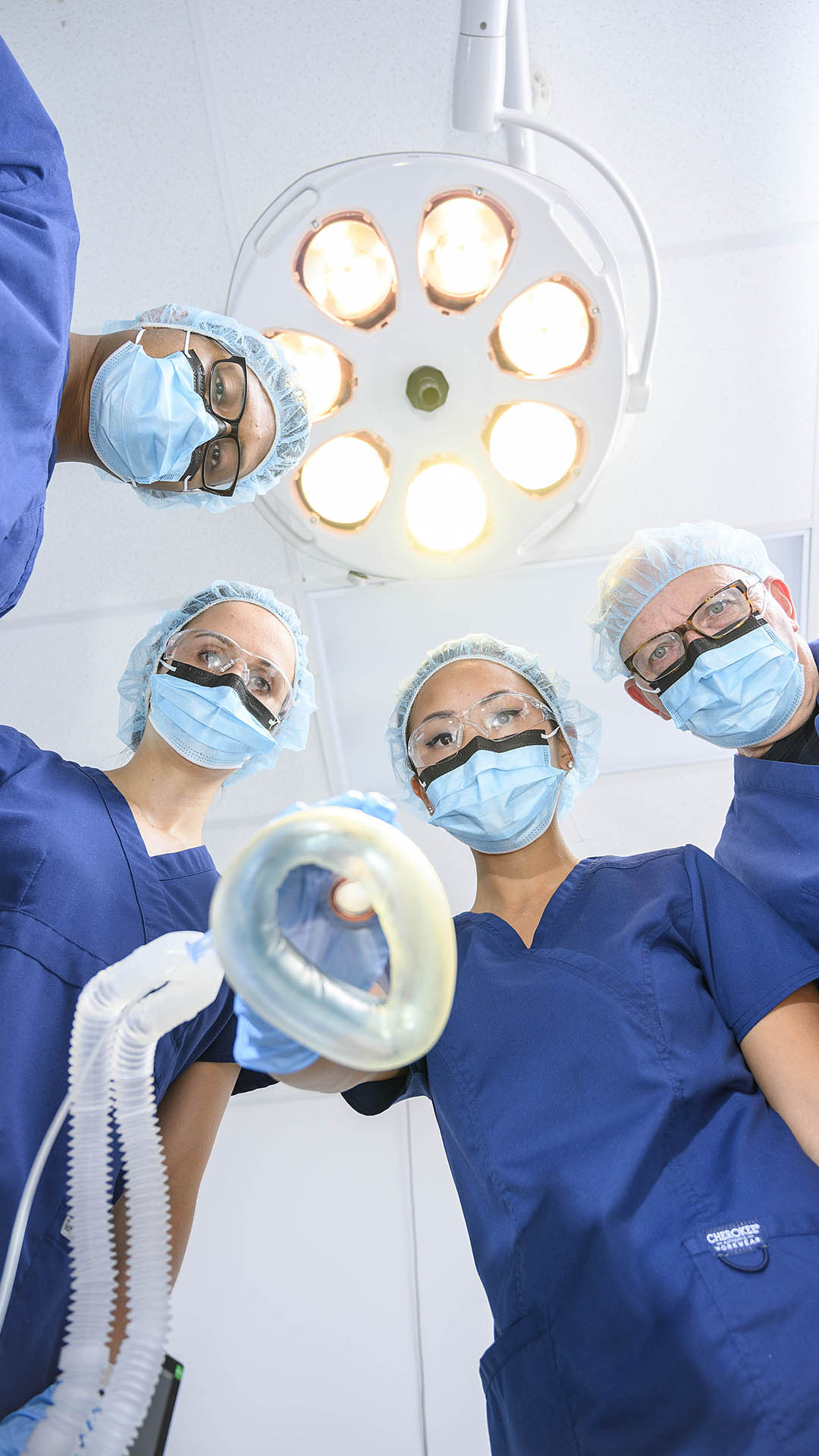 CRNA Students with Mask