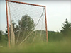 image of a soccer goal and grass